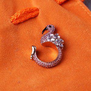 Kate Spade Shiny Zircon Flamingo Ring